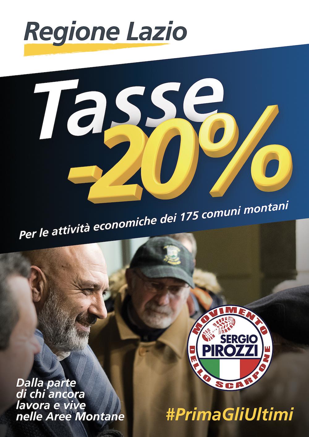 Una battaglia vinta: -20% di tasse per le attività produttive dei comuni montani del Lazio